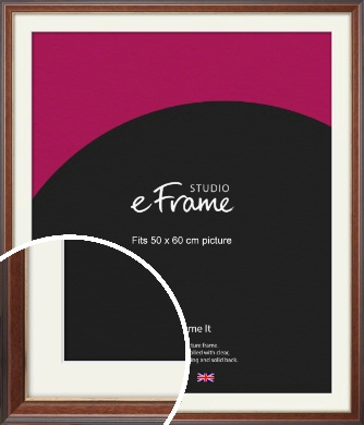 Edwardian Brown Picture Frame & Mount, 50x60cm (VRMP-287-M-50x60cm)