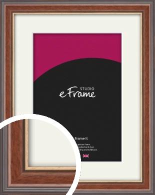 Edwardian Brown Picture Frame & Mount (VRMP-287-M)