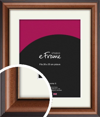 Traditional Brown Picture Frame & Mount, 20x25cm (8x10
