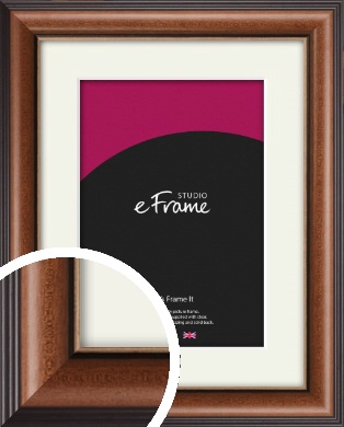 Traditional Brown Picture Frame & Mount (VRMP-294-M)
