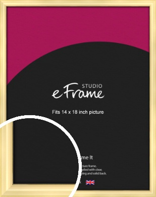 Stylish Gold Picture Frame, 14x18