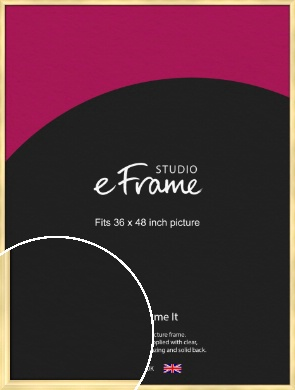 Stylish Gold Picture Frame, 36x48