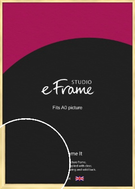 Stylish Gold Picture Frame, A0 (841x1189mm) (VRMP-A048-A0)
