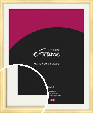 Stylish Gold Picture Frame & Mount, 40x50cm (VRMP-A048-M-40x50cm)