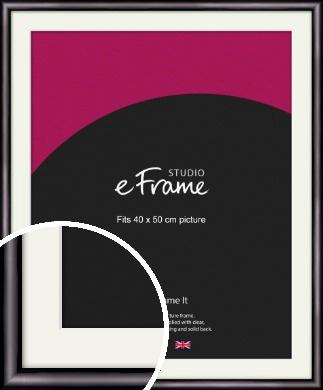 Polished Spherical Black Picture Frame & Mount, 40x50cm (VRMP-A051-M-40x50cm)