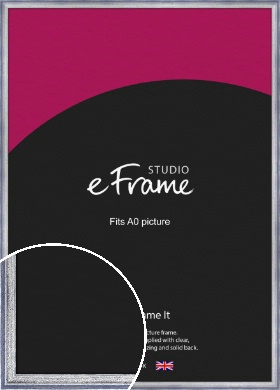 Blended Silver Blue Picture Frame, A0 (841x1189mm) (VRMP-393-A0)