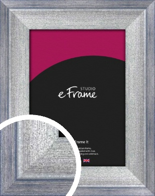 Stepped Blue & Silver Picture Frame (VRMP-407)