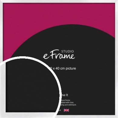 Squared Off Ice Silver Picture Frame, 40x40cm (VRMP-A098-40x40cm)