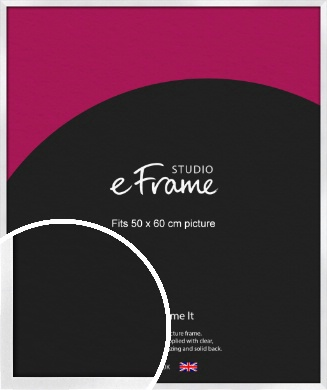 Squared Off Ice Silver Picture Frame, 50x60cm (VRMP-A098-50x60cm)