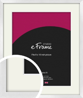 Squared Off Ice Silver Picture Frame & Mount, 8x10
