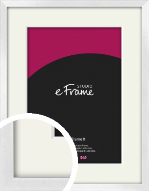 Squared Off Ice Silver Picture Frame & Mount (VRMP-A098-M)