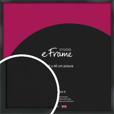 Modern Streamlined Black Picture Frame, 40x40cm (VRMP-A099-40x40cm)
