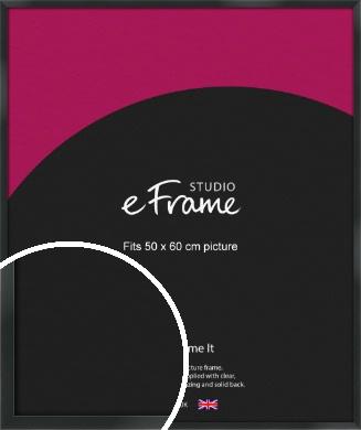 Modern Streamlined Black Picture Frame, 50x60cm (VRMP-A099-50x60cm)