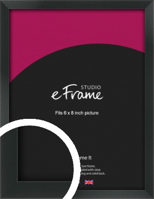 Modern Streamlined Black Picture Frame, 6x8