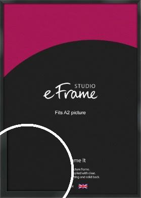 Modern Streamlined Black Picture Frame, A2 (420x594mm) (VRMP-A099-A2)