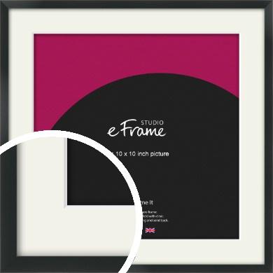 Modern Streamlined Black Picture Frame & Mount, 10x10