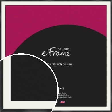 Modern Streamlined Black Picture Frame & Mount, 30x30