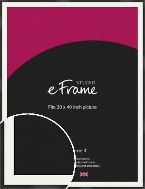 Modern Streamlined Black Picture Frame & Mount, 30x40