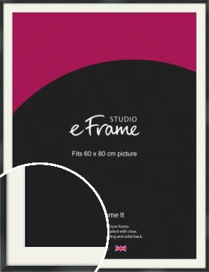 Modern Streamlined Black Picture Frame & Mount, 60x80cm (VRMP-A099-M-60x80cm)