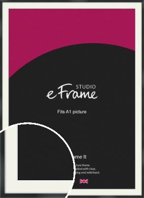 Modern Streamlined Black Picture Frame & Mount, A1 (594x841mm) (VRMP-A099-M-A1)