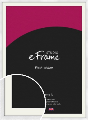 Frosted Aluminium Silver Picture Frame & Mount, A1 (594x841mm) (VRMP-A101-M-A1)