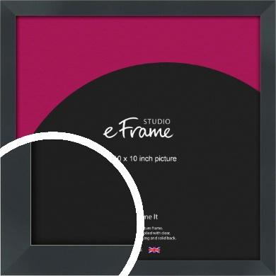 Rectangular Jet Black Picture Frame, 10x10