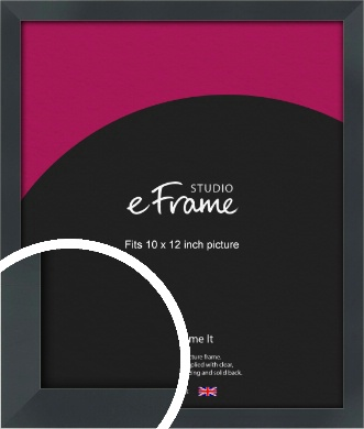 Rectangular Jet Black Picture Frame, 10x12