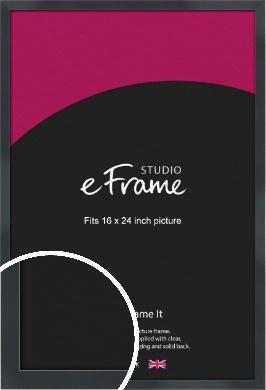 Rectangular Jet Black Picture Frame, 16x24
