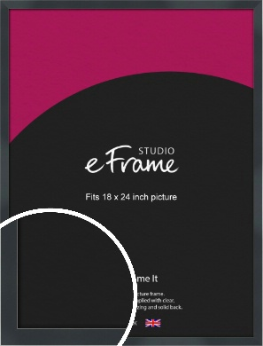 Rectangular Jet Black Picture Frame, 18x24