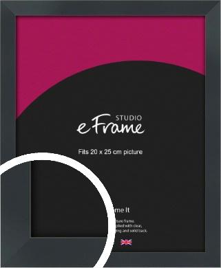 Rectangular Jet Black Picture Frame, 20x25cm (8x10