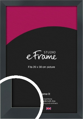 Rectangular Jet Black Picture Frame, 20x30cm (8x12
