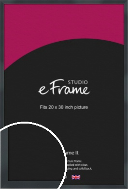 Rectangular Jet Black Picture Frame, 20x30