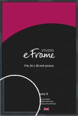Rectangular Jet Black Picture Frame, 24x36