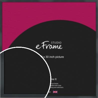 Rectangular Jet Black Picture Frame, 30x30