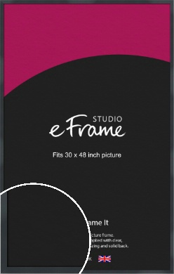 Rectangular Jet Black Picture Frame, 30x48
