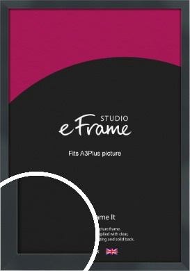 Rectangular Jet Black Picture Frame, A3Plus (VRMP-A102-329x483mm)