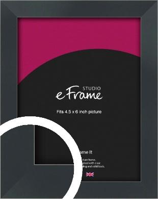 Rectangular Jet Black Picture Frame, 4.5x6
