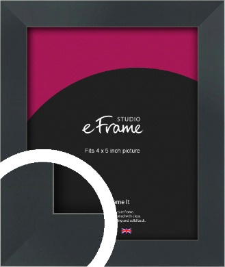 Rectangular Jet Black Picture Frame, 4x5