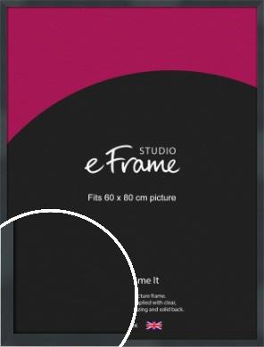 Rectangular Jet Black Picture Frame, 60x80cm (VRMP-A102-60x80cm)