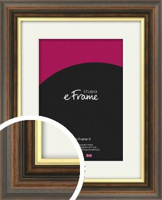 Pop Of Gold Brown Picture Frame & Mount (VRMP-304-M)