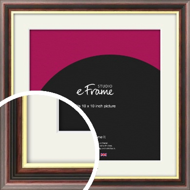 Award Style Brown Picture Frame & Mount, 10x10