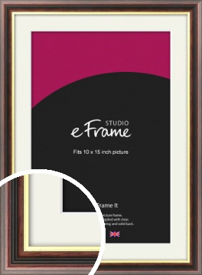 Award Style Brown Picture Frame & Mount, 10x15