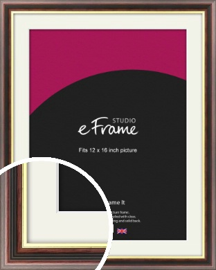 Award Style Brown Picture Frame & Mount, 12x16