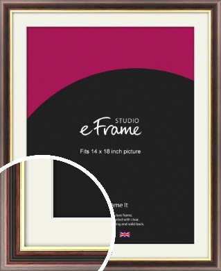 Award Style Brown Picture Frame & Mount, 14x18