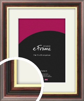 Award Style Brown Picture Frame & Mount, 15x20cm (6x8