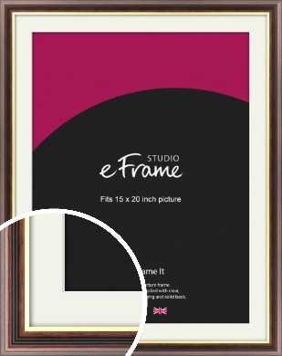 Award Style Brown Picture Frame & Mount, 15x20