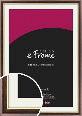 Award Style Brown Picture Frame & Mount, 16x24