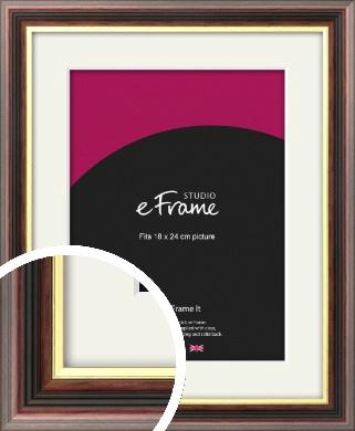Award Style Brown Picture Frame & Mount, 18x24cm (VRMP-305-M-18x24cm)