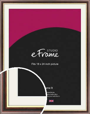 Award Style Brown Picture Frame & Mount, 18x24