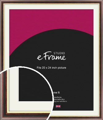 Award Style Brown Picture Frame & Mount, 20x24